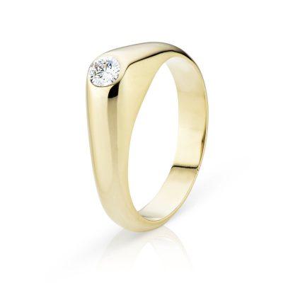 Heren ringen met diamant