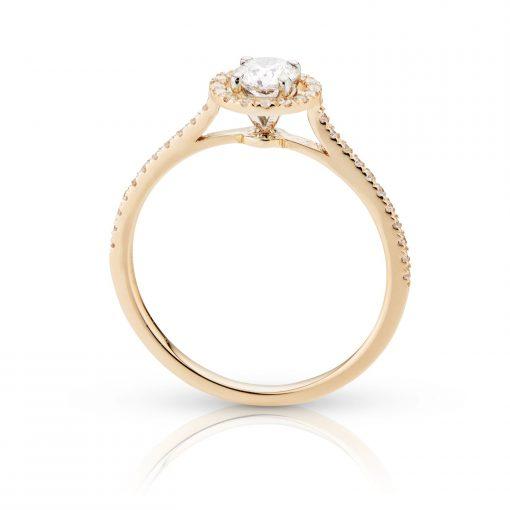 Damesring met briljant geslepen diamanten