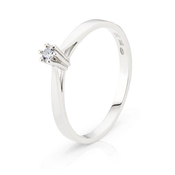 Laura witgoud met diamant