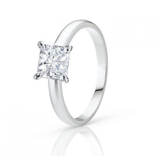 Witgouden damesring met diamant
