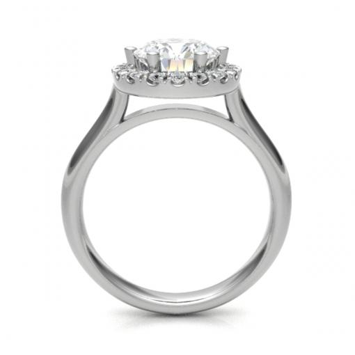 damesring met een briljant geslepen diamant